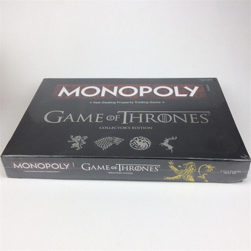 Di alta Qualità Game of Thrones 8 Jon Snow Cosplay Prop Monopolio Carta di Carta di Volo di Scacchi Donna Degli Uomini di Bordo di Gioco Del Partito vacanza Giocattolo Nuovo