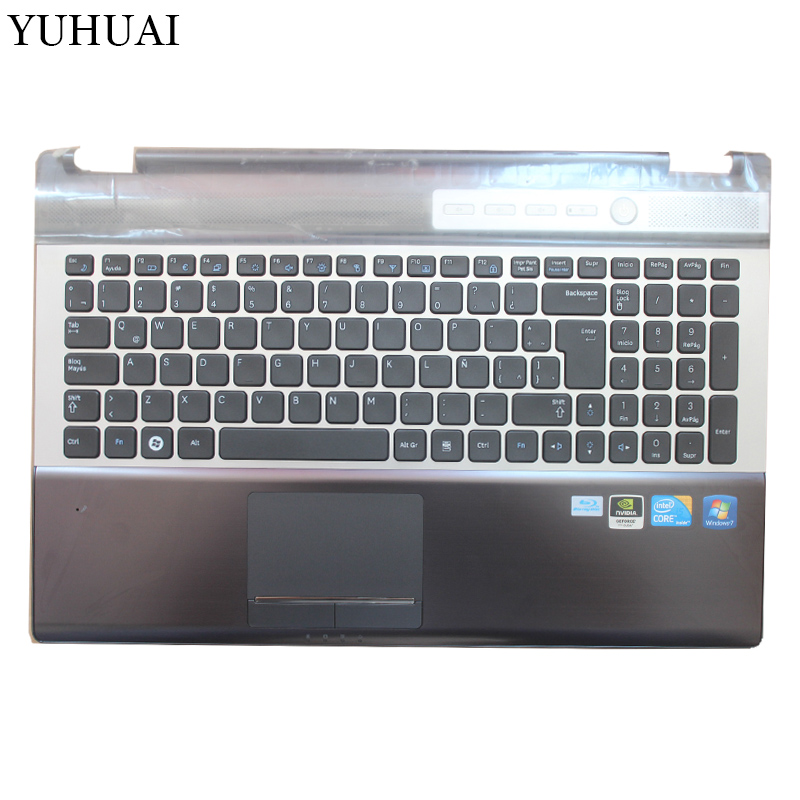 NEW FOR SAMSUNG NP RF510 RF511 Latin Spain Laptop Keyboard With Touch Palmrest COVER TopCase LA