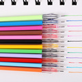 12 Pcs/Lot Diamond Head Refill Creative Stationery Candy Color Roller Ball Gel Pen Refill The Core 0.38mm Office School Supplies