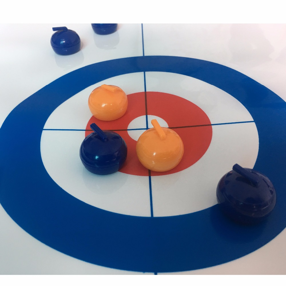 Купить с кэшбэком TOP quality Tabletop Curling Game-Compact Curling Board Game Mini Table Games for Family School Travel Play 28*120cm