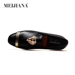 Image 3 - Meijiana mocassins masculinos de couro, mocassins casuais para homens, sapatos da marca luxuosos para dirigir