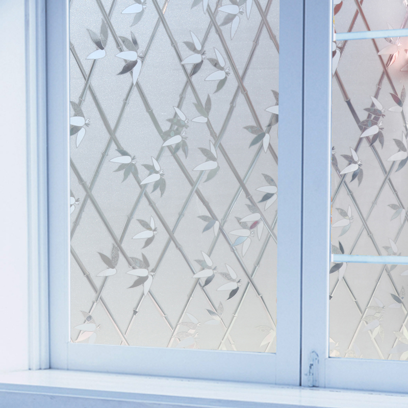 Popular decorative window film bamboo buy cheap decorative for Stickers fenetre opaque