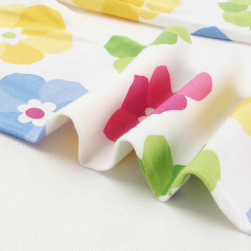 3-10 lat dziewczyny przycięte spodnie kwiatowy Print kwiat dzieci do łydki spodnie obcisłe elastyczne legginsy dzieci wszystkie mecze dna