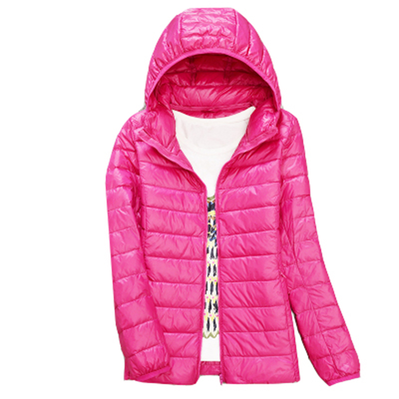 Women Winter   Coat   2017 New White Duck   Down   Jackets Slim Hooded short   Down     Coat   Portable Plus Size Ultra Light   Down   Parkas QH0885