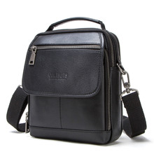 New Luxury Brand Vintage Men Messenger Bags For Men Leather Business Shoulder Bag Male Crossbody Bag Brown Casual Briefcase