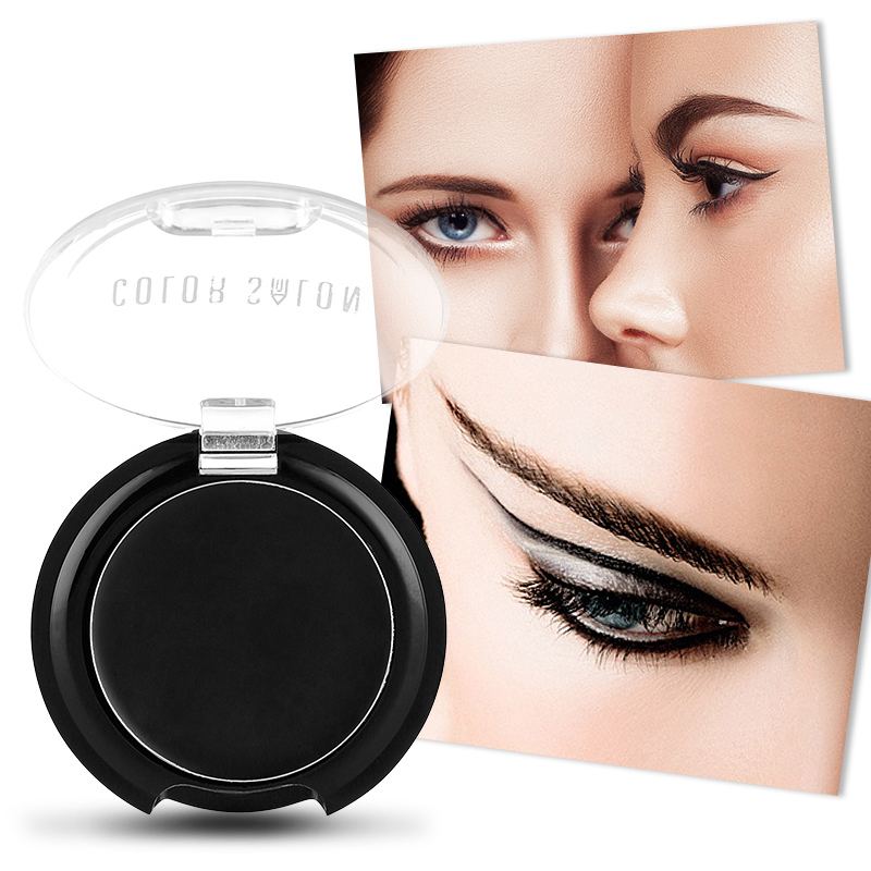 Color Salon Professional 24 Hours Long Lasting Eyeliner Cream Make Up Cosmetics Waterproof Eye Liner Gel Eyeliner powder