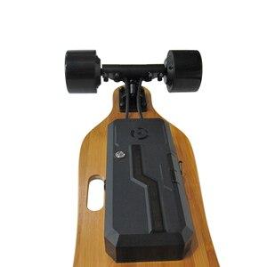 Image 5 - أربعة عجلة دفعة الكهربائية لوح التزلج الإلكترونية البسيطة Longboard 350 W محور المحرك مع تحكم عن بعد لاسلكية سكوتر لوح التزلج