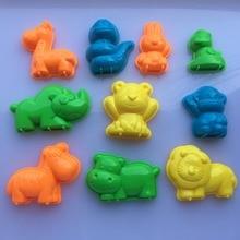 10 шт. набор животных песок глиняный инструмент пляжные игрушки Новинка форма в виде пирамиды Строительная модель для детей ребенок вне веселые игрушки на праздник