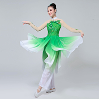 Chinese Classical Dance Costumes Yangko Dance Red Costumes Female Drum Fan National Dance Stage Performance Clothes