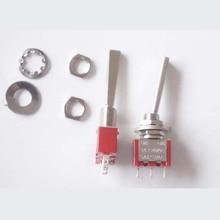 цена на Direct production Soongsil  Long Flat handle  3 Pin ON-ON  SPDT  Toggle Switch AC 6A/125V 3A/250V