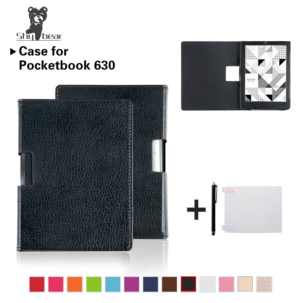 Cover Case For Pocketbook 630 6'' Inch PU Leather Protective Skin Shell Case+film+stylus