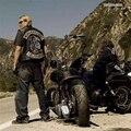 Sons of anarchy motorcycle club chaleco Bordado chaleco sin mangas de la chaqueta de cuero de imitación de los hombres chaleco 967