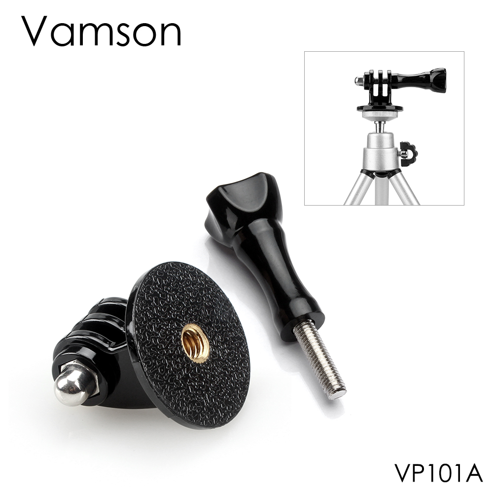 Vamson for GoPro Accessories Adapter Converter Mount Monopod Tripod Holder Case Adapter for Go Pro Hero 9 8 7 6 5 for yi VP101