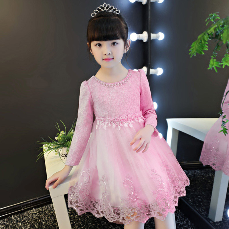 Girl floral princess party dress baby long sleeve dress wedding birthday children clothing 3 4 5 6 7 8 9 10 years girls clothes children s spring and autumn girls bow plaid child children s cotton long sleeved dress baby girl clothes 2 3 4 5 6 7 years