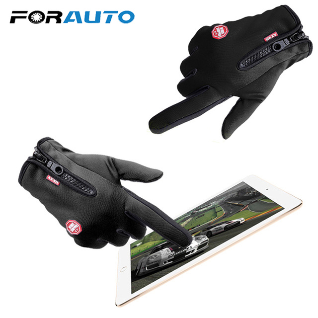 1 Pair Top Selling Motorcycle Gloves Riding Glove Ski Gloves Touch Screen Windstopper Warm Full Finger For Winter Sport