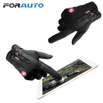 Najlepiej sprzedające się rękawice motocyklowe rękawice do jazdy na nartach rękawice z ekranem dotykowym Windstopper ciepłe pełne palce do sportów zimowych tanie i dobre opinie Wodoodporna Skóra Unisex 10671