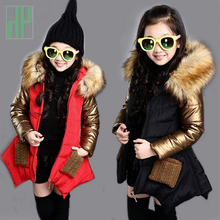 Kids jackets for girls Autumn Winter children's clothing faux fur coat girls Outerwear thick warm parkas fashion windbreaker