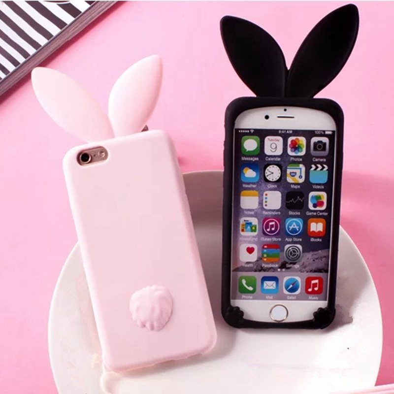 lovely cartoon  rabbit ears soft silicone phone cases