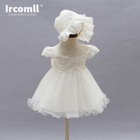 Newborn Girl Baby Dresses Lace Embroidery Beading Ivory Princess Christening Dress Infant Wedding Party Baby Girl