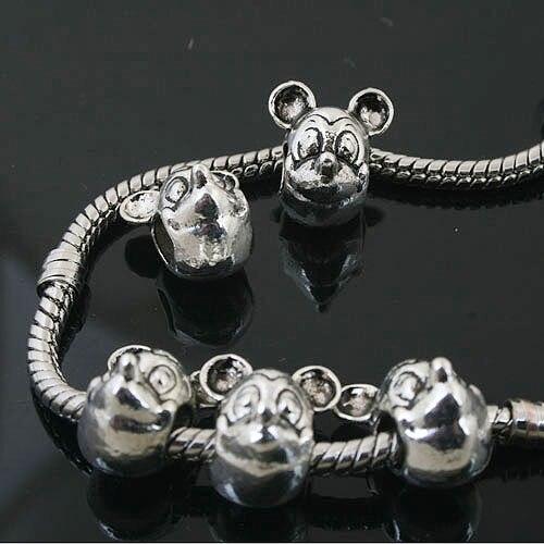 2pcs Tibetan Silver Color Hollow Flower Design Charms h0909