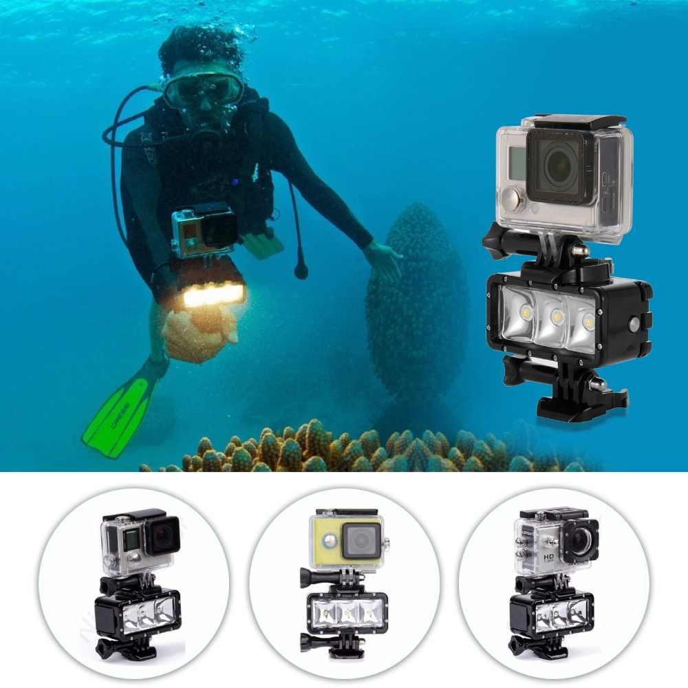 30 м Дайвинг светодиодный фонарик Водонепроницаемый свет подводный Освещение для hero6/5 для xiaoyi 4 К Sony H9 SJCAM sj4000 sj5000