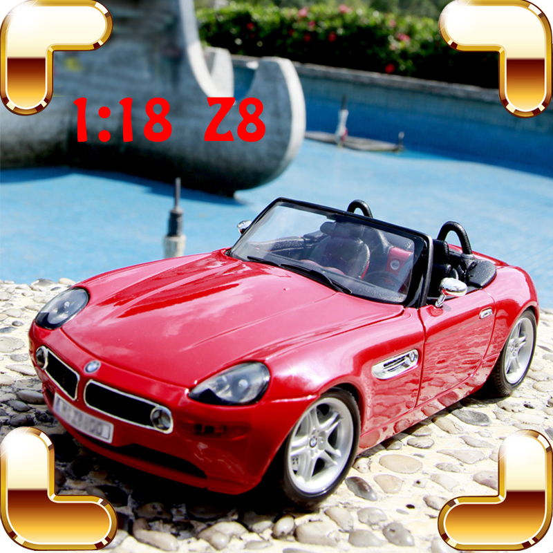 New Year Gift Z8 1/18 Metal Model Roadster Alloy Vehicle Collection Toys Car Decoration Home Friend Present Die-cast Showcase new year gift 1965 sting ray 1 18 metal model car classic roadster alloy collection vehicle decoration simulation toys