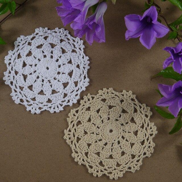 Handgemachte häkelarbeit muster Tischsets Deckchen tasse Pad matten ...
