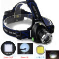 Zoom focus 2400LM HeadLight headLamp CREE XM-L2 LED Lamp Flashlight Light 18650  Headlamp 3 mode led light