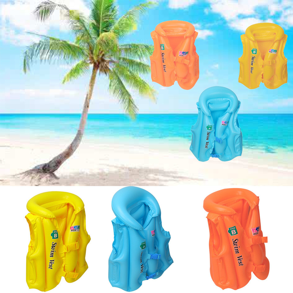 Children Swimming In The Water Inflatable Toys Kid Baby Adult Inflatable Sea Swimming Pool Vest Float Aid Jacket Swim Training