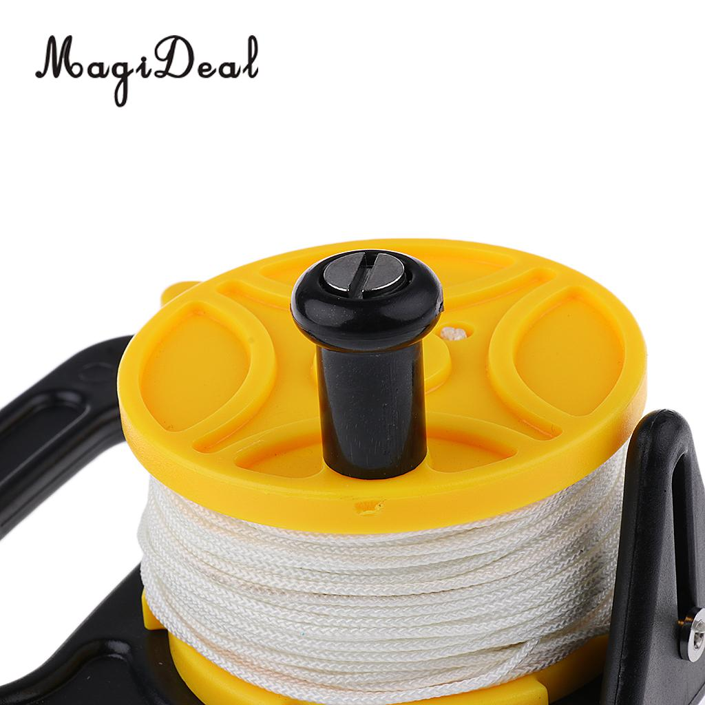 MagiDeal Professional Scuba Diving Diver Reflective Safety Sausage / SMB Surface Marker Buoy with Dive Reel Kayak Anchor