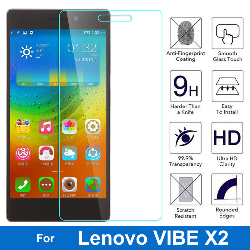 2.5D Premium Glass Screen Protector Tempered Glass For Lenovo Vibe X2 X 2 X2-TO X2-AP X2-EU X2-CU Dual SIM Glass Protective Film