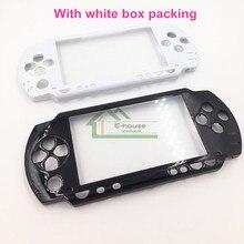 สีดำและสีขาวด้านหน้าที่อยู่อาศัยที่ครอบคลุมกรณีเชลล์เปลี่ยนสำหรับSony PSP1000 PSP 1000เกมคอนโซล