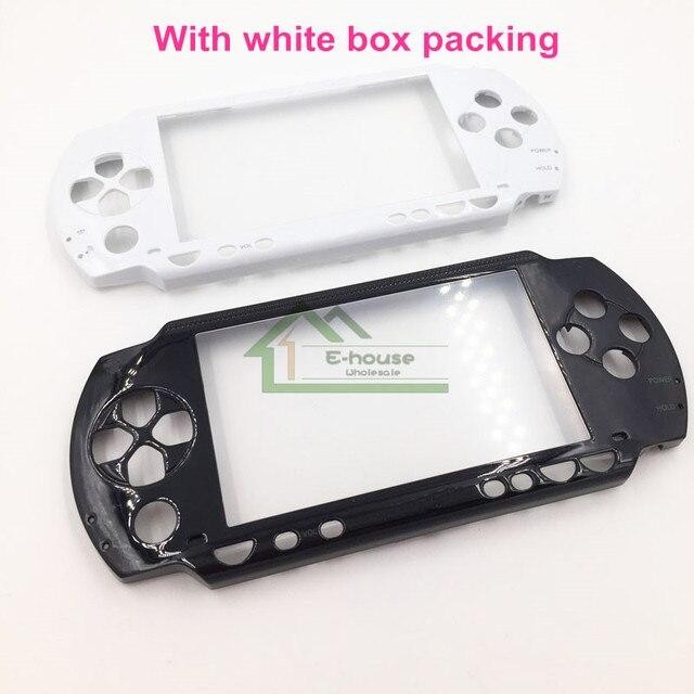 Couleur noir et blanc boîtier avant coque de remplacement pour Sony PSP1000 PSP 1000 Console de jeu