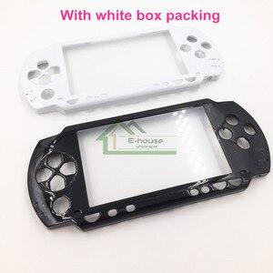 Image 1 - أبيض وأسود اللون إطار أمامي غطاء شل استبدال لسوني PSP1000 PSP 1000 لعبة وحدة التحكم
