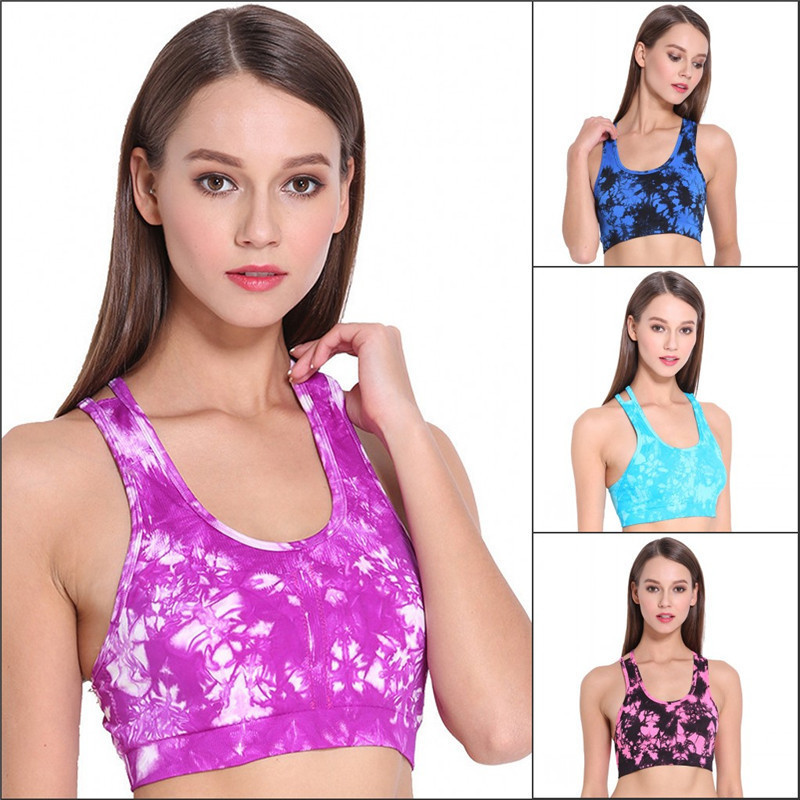 7592f79184 Women Shockproof Seamless Sports Bras Padded Push Up Tank Top Athletic Gym  Running Fitness Yoga Vest Stretch Underwear-in Sports Bras from Sports ...
