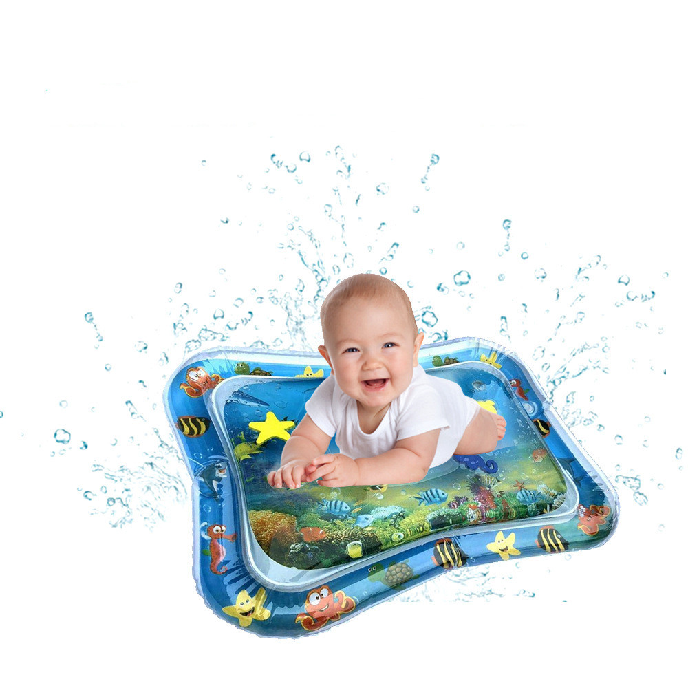 Baby Kids Thicken PVC Infant Tummy Time Play Mat Water Play Mat Toys Inflatable Toddler Activity Play Water Mat For Babies
