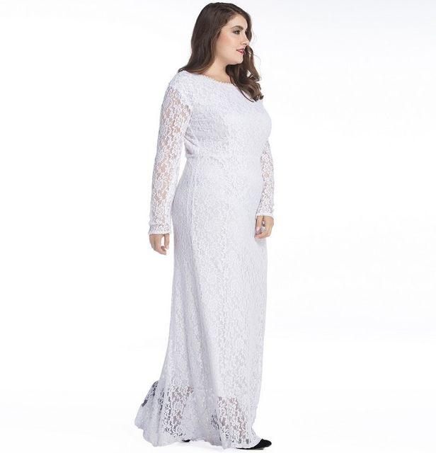 Online Shop Plus Size Autumn Women Long Dress Big Size 6XL 7XL ... c285b780e2b3