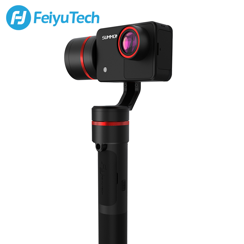 FeiyuTech Summon Plus with Action <font><b>Camera</b></font> 3-Axis Handheld <font><b>Gimbal</b></font> Brushless <font><b>Camera</b></font> Stabilizer with <font><b>4K</b></font> 1080P Action Cam image