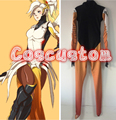 Coscustom High Quality OW Mercy Costume Bottoming suit Mercy Base Jumpsuit Halloween Cosplay Costume
