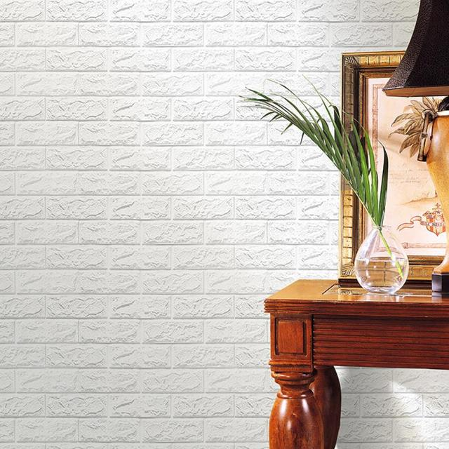 2017 NoEnName_Null 3D Brick Wall Sticker Self Adhesive Foam Wallpaper  Panels Room Decal JUL18