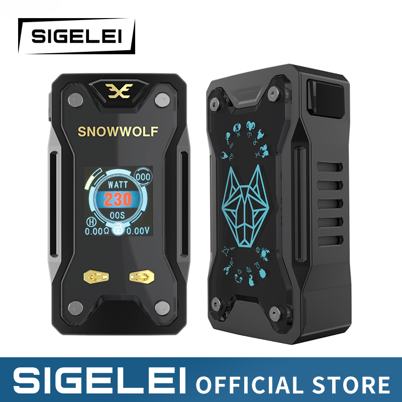 Vape Mod and RDA tank Original SIGELEI snowwolf range e electronic cigarette kit Xfeng MOD KIT