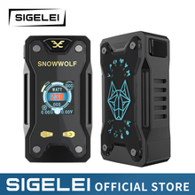 Vape Mod and RDA tank Original SIGELEI snowwolf range e electronic cigarette kit Xfeng MOD KIT electronic cigarette mechanical mod 30w vape e cigarette starter kit mini tvr 30 mod airflow atomizer tank 0 5ohm vaperizer ecig