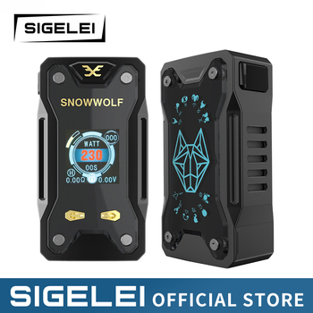 Vape Mod and RDA tank Original SIGELEI snowwolf range e electronic cigarette kit Xfeng MOD KIT electronic cigarette jsld 80w kit vape built in 2000mah battery box mod large smoke steam vape kit vs txw 80w vape e cigarette