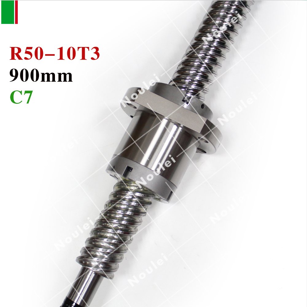 HIWIN 5010 C7 900mm ball screw 10mm lead with R50-10T3-FSI ballnut and end machined for high stability linear CNC diy kit set hiwin 1616 ballscrew 600mm c7 dia 16mm pitch with end machined and ball nut for cnc kit parts high speed