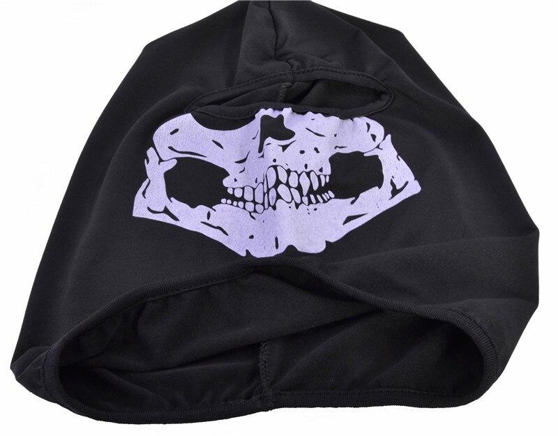 Зимняя Маска с черепом Балаклава шапочки шапки мужские Призрак Череп полная маска для лица из двери капюшон шапочка Gorros Hombre Casquette