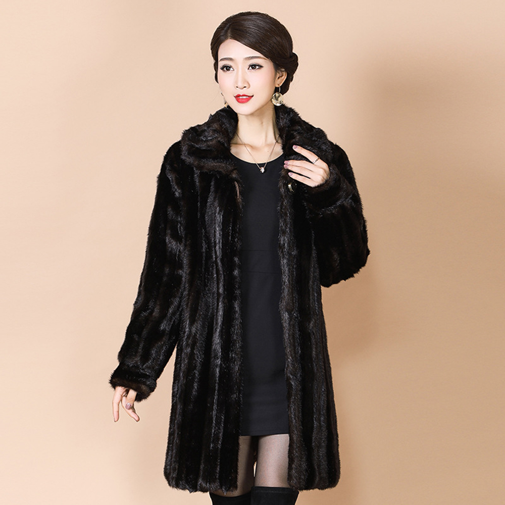 2019 Actual Mink Fur Coats Pure Fur Parka Winter Windbreaker Park With Pure Fur 4Xl Outerwear New Ladies's Clothes