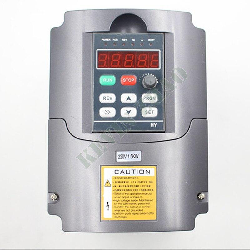 Новый HY бренд VFD инвертор с переменной частотой 1.5KW 2HP 220V 7A 1.5kw инвертор