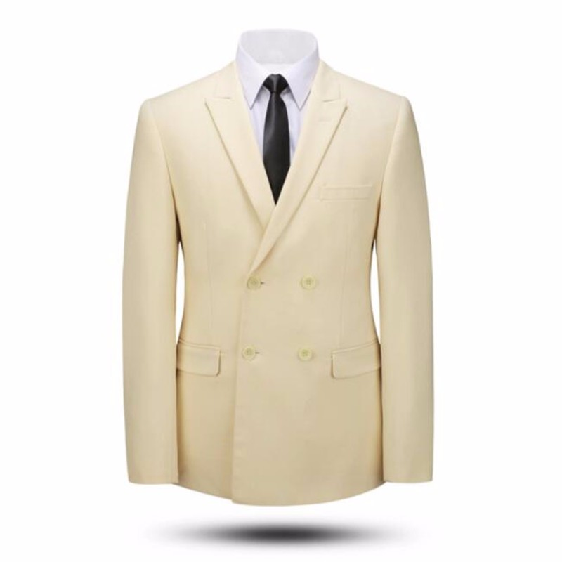 3.1Tailor made blue men suits jacket double breasted bridegroom wedding tuxedos jacket high quality formal work suits jacket