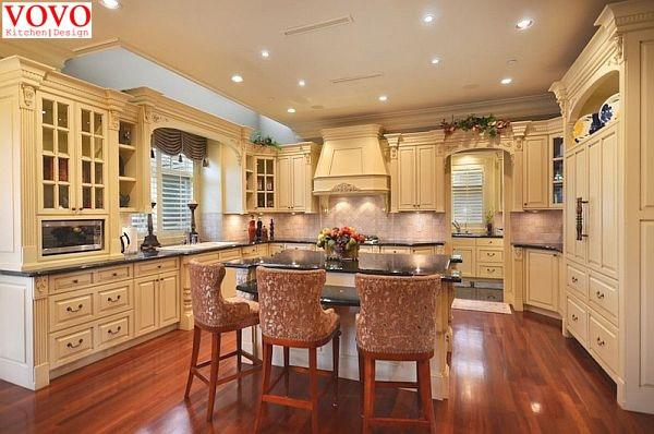 Putih Mewah Klasik Lemari Dapur