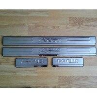 Aço inoxidável Tampa do Peitoril Da Porta Threshold Placa Scuff Para Ford Focus 2005-2011 MK2 Sedan e Hatchback